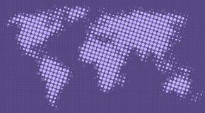 Halftone puntenkaart van de wereld Royalty-vrije Stock Afbeeldingen