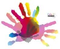 Halftone ręki Obraz Stock
