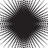 Halftone radial pattern background. Vector dots texture retro. A Stock Photos
