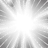 Halftone radial speed lines for comic book.  stock illustration