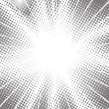 Halftone radiale snelheidslijnen voor grappig boek stock illustratie