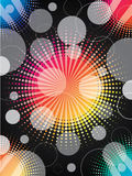 Halftone rainbow background Royalty Free Stock Images