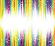 Halftone rainbow background with lots of stars Royalty Free Stock Photos