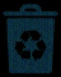 Recycle Bin Mosaic Icon of Halftone Spheres. Halftone Recycle bin mosaic icon of spheric bubbles in blue shades on a black background. Vector circle bubbles are Stock Photo