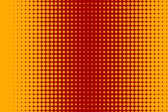 Halftone red banner. Halftone banner. Abstract comic, cartoon summer background with dots, circle, sale flyer, retro card, tech background, techno template Royalty Free Stock Images