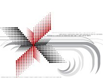 Halftone red and black spin Royalty Free Stock Images