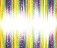 Halftone regenboogachtergrond met veel sterren Royalty-vrije Stock Foto's