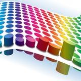 Halftone retro dots 3D stock illustration