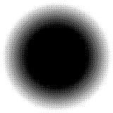 Halftone ronde vector illustratie