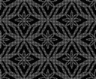 Halftone ronde zwarte naadloze controle c van de achtergrondachthoekdiamant Royalty-vrije Stock Fotografie