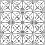 Halftone ronde zwarte naadloze de controlecros van de achtergrondsterdiamant Stock Foto