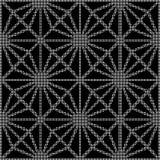 Halftone ronde zwarte naadloze de controlecros van de achtergrondsterdiamant Royalty-vrije Stock Afbeelding