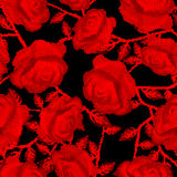 Halftone roses Stock Images