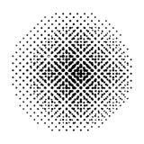 Halftone round abstrakcjonistyczny tło z kropkami wektor ilustracja wektor