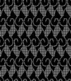 Halftone round black seamless background aboriginal spiral curve Royalty Free Stock Photography