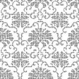 Halftone round black seamless background botanic spiral vine flo Royalty Free Stock Photography