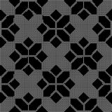 Halftone round black seamless background check star cross polygo Royalty Free Stock Image