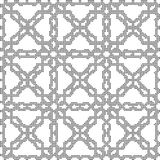 Halftone round black seamless background cross geometry chain Stock Images