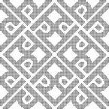 Halftone round black seamless background cross spiral frame  Stock Photography