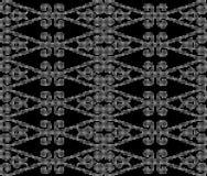 Halftone round black seamless background curve spiral cross chec Stock Photos