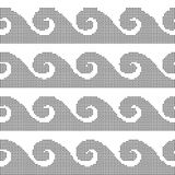 Halftone round black seamless background curve spiral wave  Royalty Free Stock Images