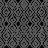 Halftone round black seamless background diamond check cross Stock Photography