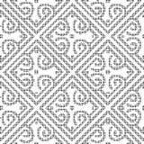 Halftone round black seamless background diamond spiral check cr Stock Photos