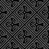 Halftone round black seamless background diamond spiral check cr Stock Images
