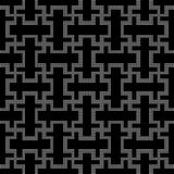 Halftone round black seamless background double cross spiral geo Royalty Free Stock Photo