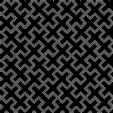 Halftone round black seamless background double cross square lat Royalty Free Stock Photos