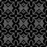 Halftone round black seamless background Islam cross star geomet. Ry can be used for both print and web page Royalty Free Stock Photography