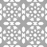 Halftone round black seamless background Islam star geometry. Can be used for both print and web page Stock Image