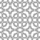 Halftone round black seamless background octagon frame cross Royalty Free Stock Photo