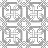 Halftone round black seamless background octagon frame cross geo Stock Photography