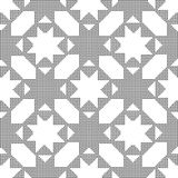 Halftone round black seamless background octagon star cross. Can be used for both print and web page Stock Images