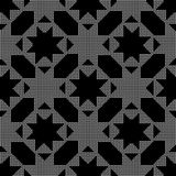 Halftone round black seamless background octagon star cross Stock Image
