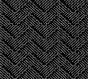 Halftone round black seamless background oriental curve wave cro Stock Photos