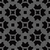 Halftone round black seamless background polygon chain cross squ Royalty Free Stock Image