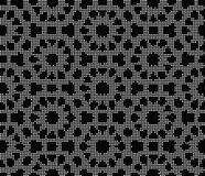 Halftone round black seamless background polygon cross star flow. Er can be used for both print and web page Stock Photography