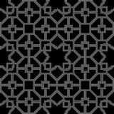Halftone round black seamless background polygon square star cro. Ss lattice can be used for both print and web page Royalty Free Stock Images