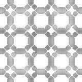 Halftone round black seamless background round corner octagon cr Stock Photography