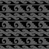 Halftone round black seamless background spiral curve wave geome. Try can be used for both print and web page Royalty Free Stock Photo