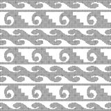 Halftone round black seamless background spiral curve wave. Geometry can be used for both print and web page Stock Photos