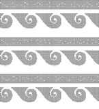 Halftone round black seamless background spiral round wave  Royalty Free Stock Images