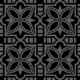 Halftone round black seamless background square cross star flowe. R can be used for both print and web page Royalty Free Stock Photos