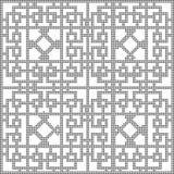 Halftone round black seamless background square diamond check cr Stock Image