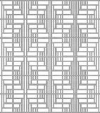 Halftone round black seamless background square line cross wave Stock Images