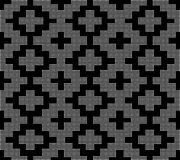 Halftone round black seamless background square mosaic check cro Stock Photo