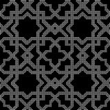 Halftone round black seamless background star check cross geomet. Ry can be used for both print and web page Royalty Free Stock Image