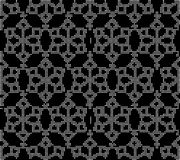 Halftone round black seamless background star cross flower kalei. Doscope can be used for both print and web page Stock Image